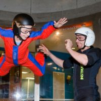 young boy indoor skydiving NC