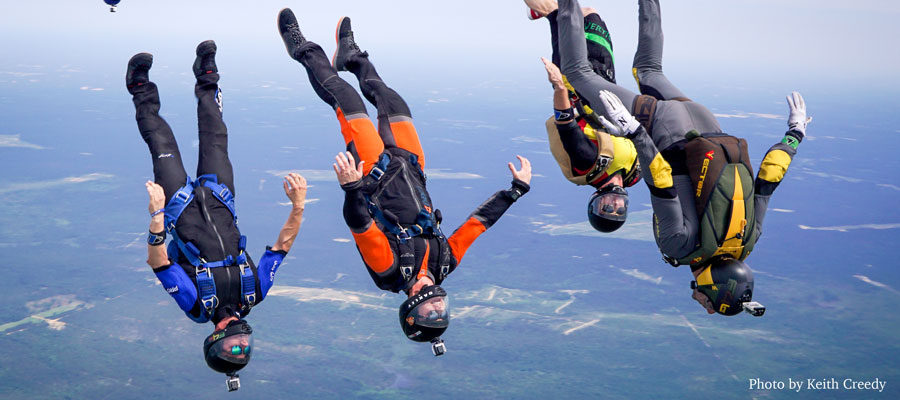 Wind Tunnel training allows skydivers to excel.