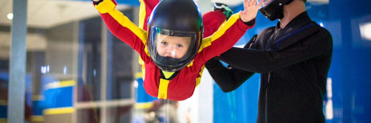 indoor skydiving birthday party for kids