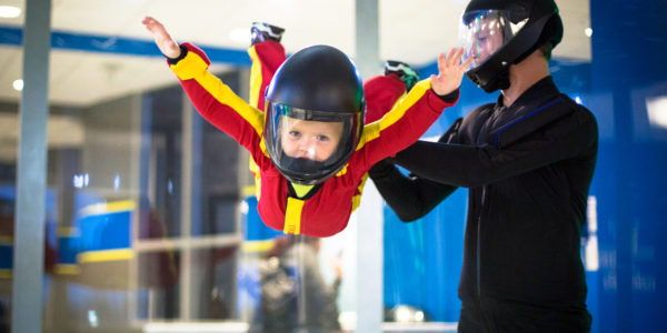 Kids enjoying indoor skydiving Fayetteville, NC
