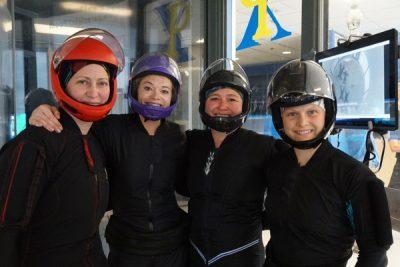 female team trains together