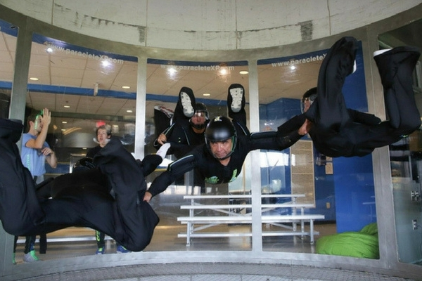 wind tunnel training coach, kirk verner, in action