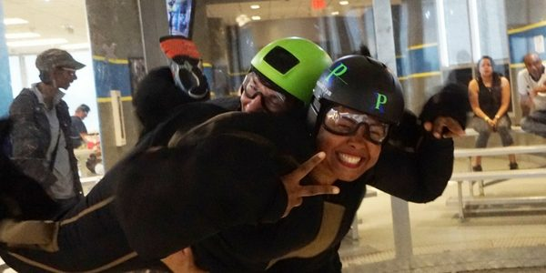 woman enjoys learning to fly at paraclete xp