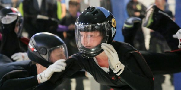 team competes at indoor skydiving championships at Paraclete XP