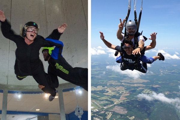 indoor skydiving freefall vs skydiving freefall