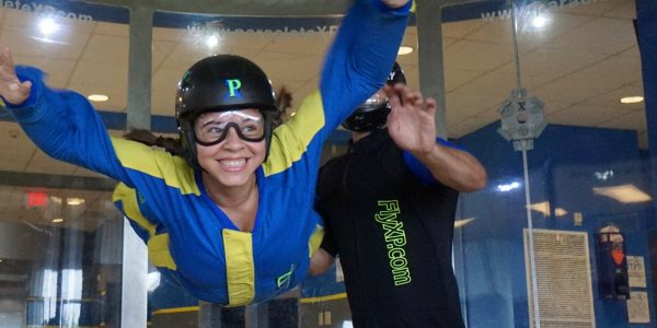 indoor skydiving first timer experiences freefall similar to skydiving