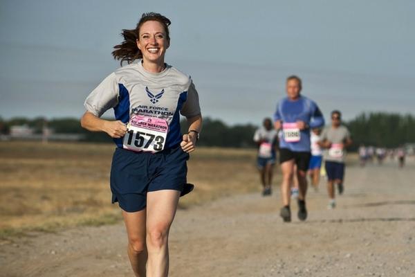 woman crosses marathon run off bucket list