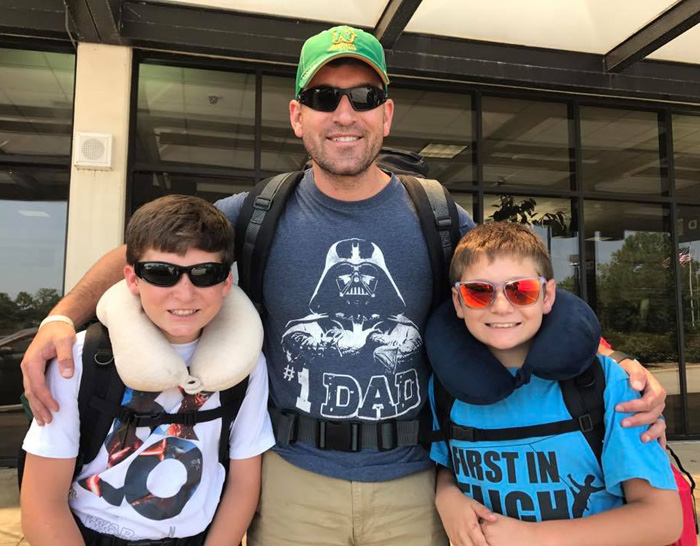 Wind Tunnel instructor Steve Rulli with his kids