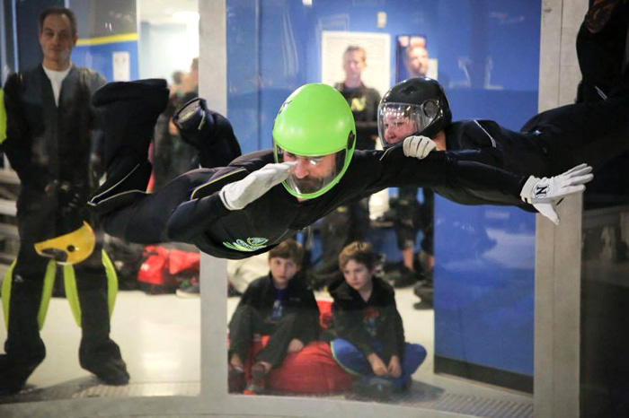 wind tunnel instructor steve rulli at work