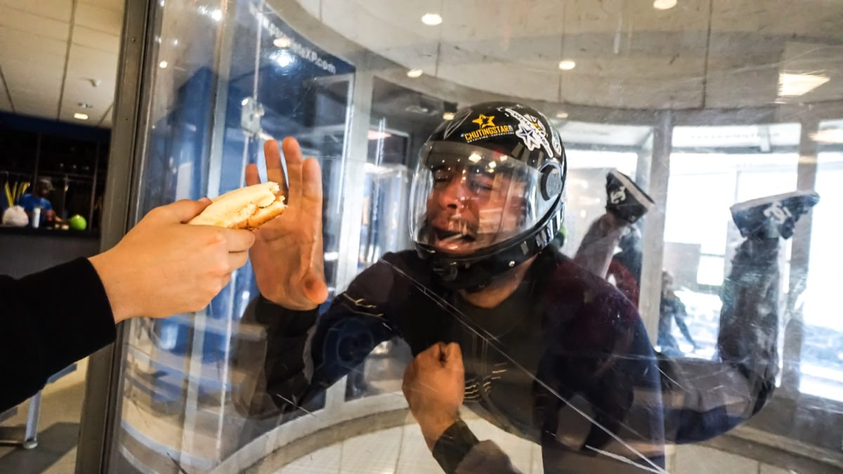 Paraclete XP Indoor Skydiving Instructor, Manny Jacobs