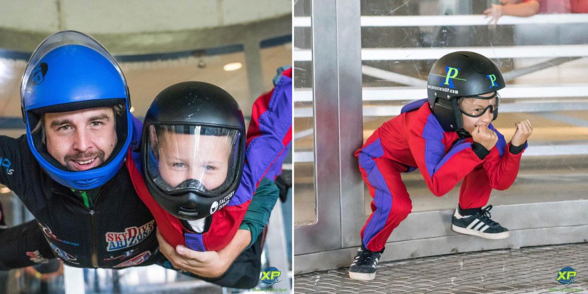 indoor skydiving with kids