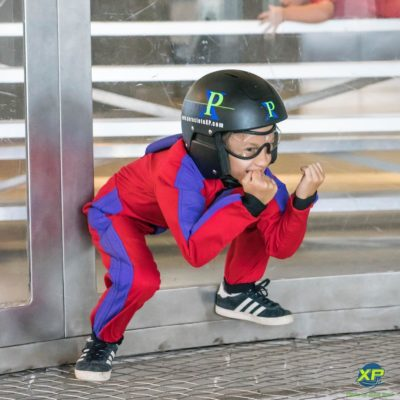 indoor skydiving with kids
