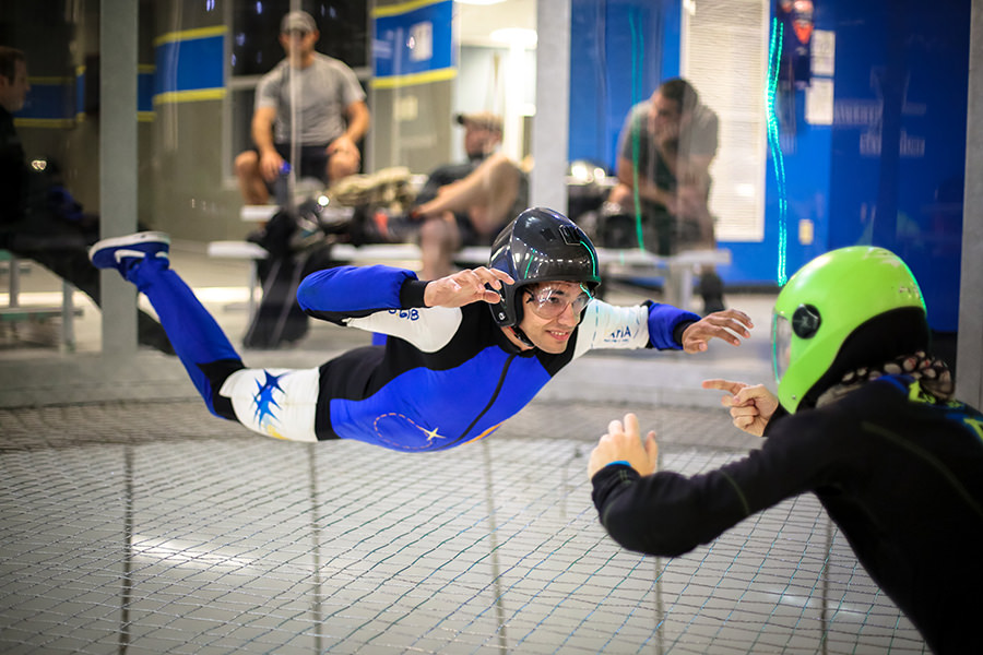 Keeping Calm When Indoor Skydiving