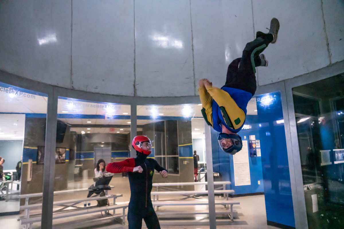 learning to indoor skydive