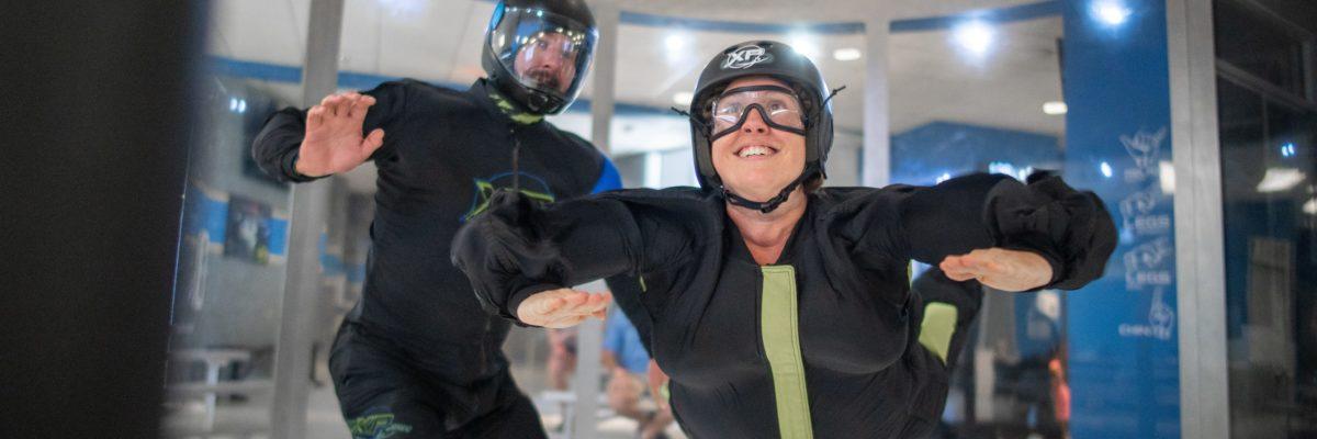 first indoor skydive